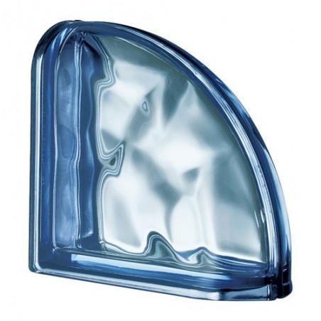 Terminal Curva Ondulada Metalizada Azul Diseño