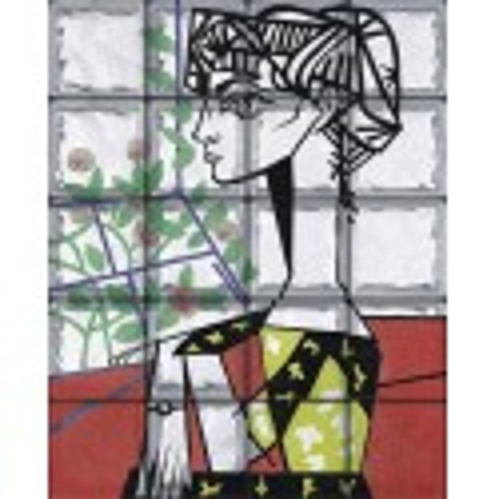 """Omaggio a Picasso """"Ritratto a Jacqualiline Roque"""" (20 Bloques)"""