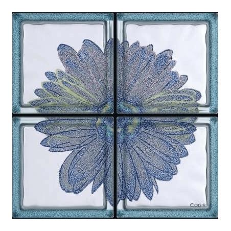 Composición Omaggio a Andy Warhol - Margherita Blu de 4 Bloques
