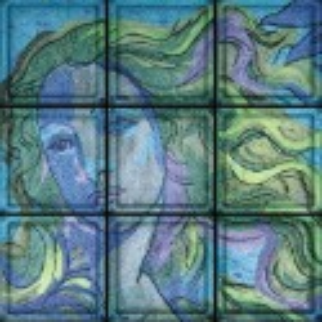 "Composición Omaggio ""Venere"" di Botticelli de 9 Bloques"