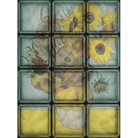 "Omaggio a Van Gogh ""Girasoli"" de 12 Bloques"
