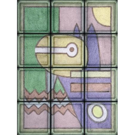 """Composición Omaggio a Klee """"Pittura 1914"""" de 12 Bloques"""