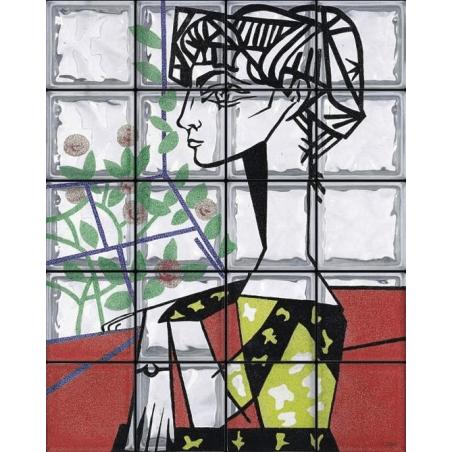 """Omaggio a Picasso """"Ritratto a Jacqualiline Roque"""" de 20 Bloques"""
